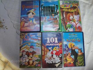 Cassettes VHS dessins animés