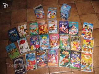 Cassettes VHS pour enfants (Disney,contes...)