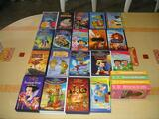 Cassettes vidéo dessins animés