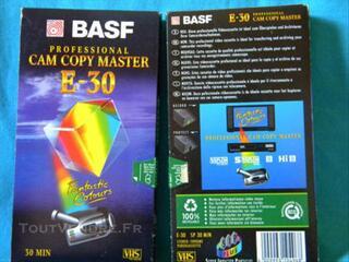 CASSETTES VIDEO marque BASF