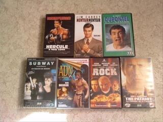 Cassettes vidéos films et dessins animés