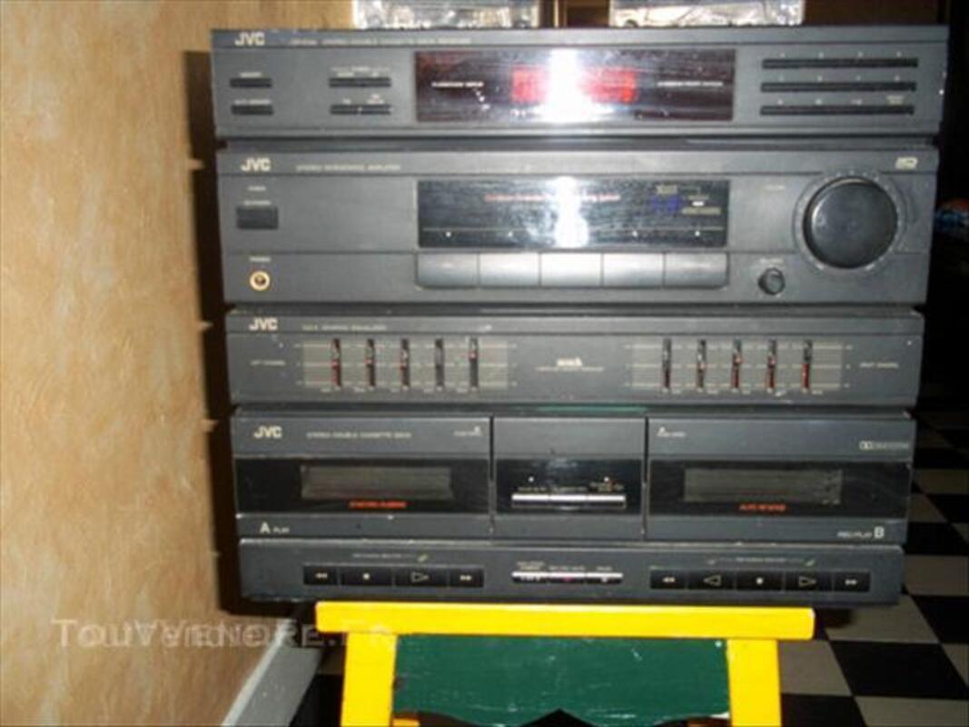 Chaine HIFI compacte JVC double cassette 64392849