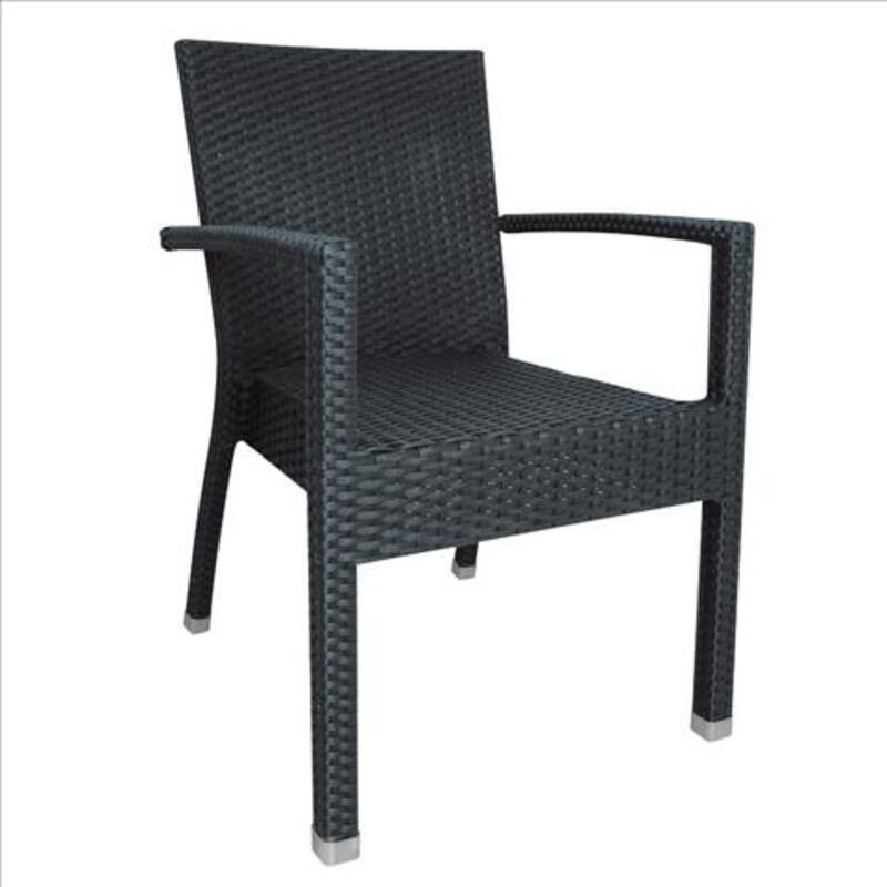Chaise en rotin synthétique naturel bolero 58061972