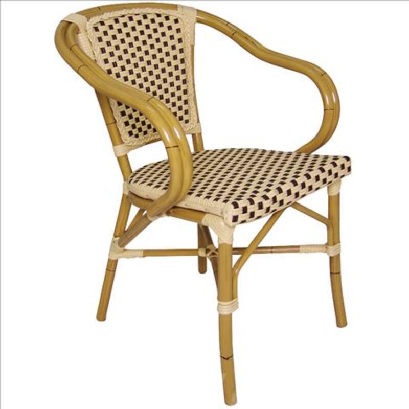 Chaise en rotin synthétique,solide-résistant aux intempéries 58061968
