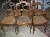 Chaises cannées Style Louis Philippe