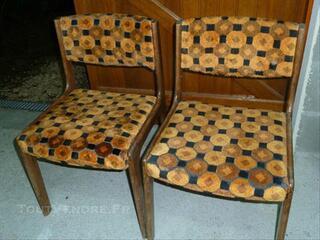 Chaises vintages année 70-80