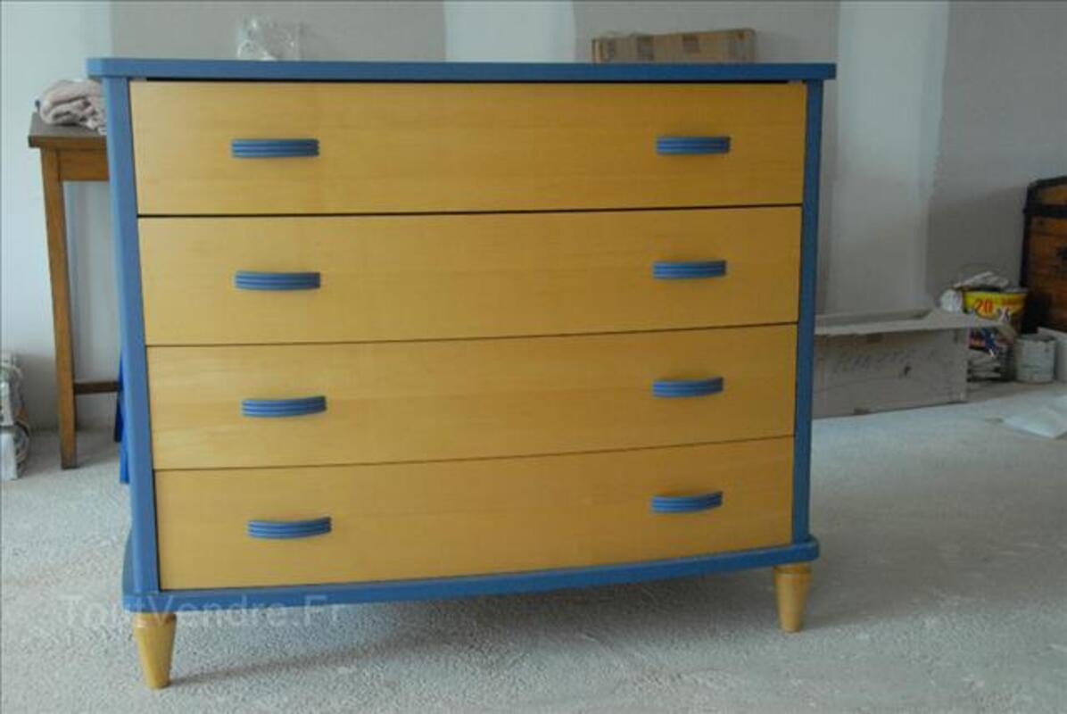 Chambre BB : lit, armoire, commode, coffre à jouets 89270017