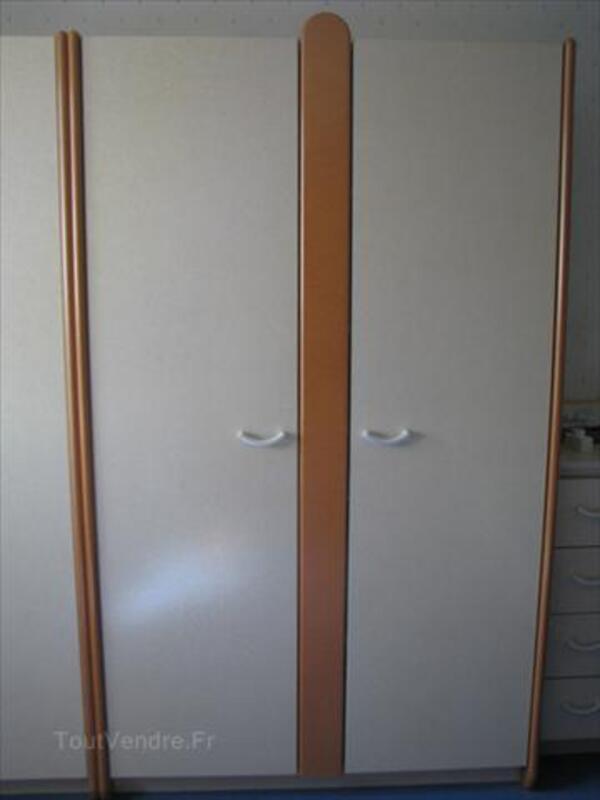 Chambre enfant Gautier - lit+armoire+chevet+étagères 55928510
