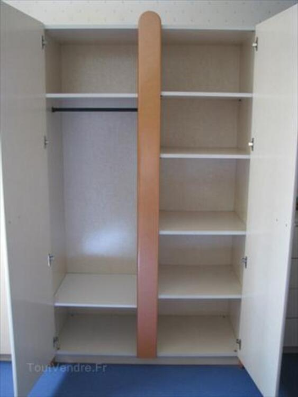 Chambre enfant Gautier - lit+armoire+chevet+étagères 55928511