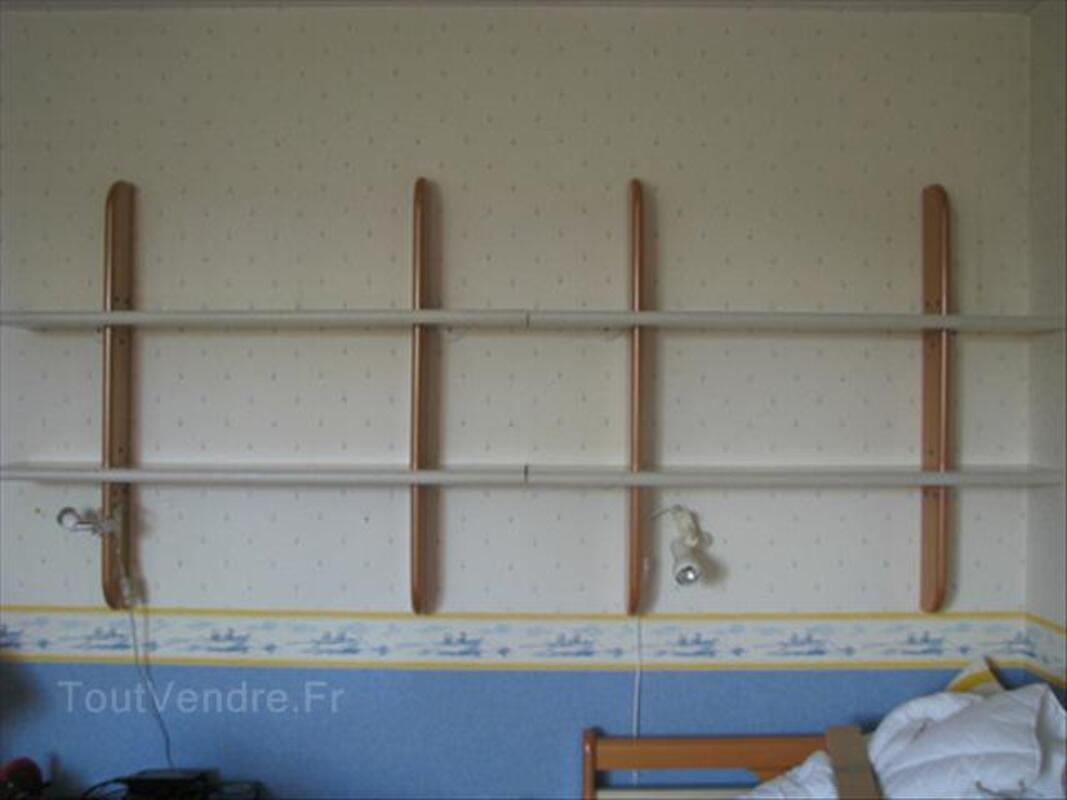Chambre enfant Gautier - lit+armoire+chevet+étagères 55928512