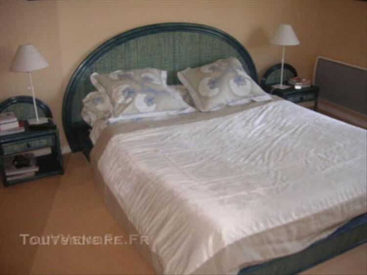 CHAMBRE ROTIN MAUGRION LIT+CHEVETS+COMMODE 44993684