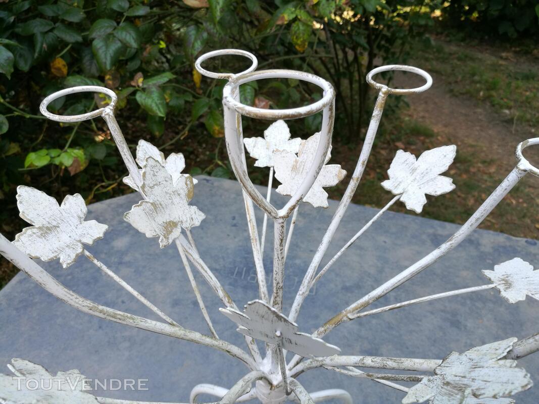Chandelier Bougeoir Métal / coupelles verre / Tripode suxn 390075957