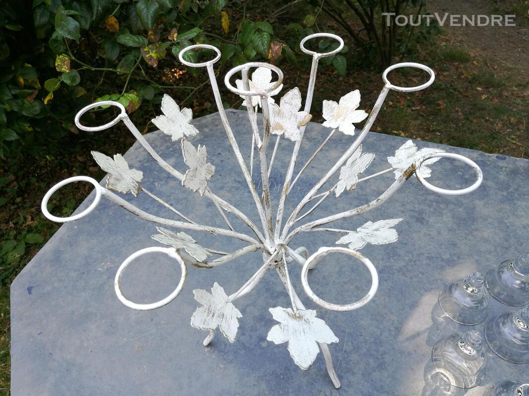 Chandelier Bougeoir Métal / coupelles verre / Tripode suxn 390084087