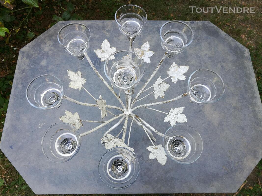 Chandelier Bougeoir Métal / coupelles verre / Tripode suxn 390085899