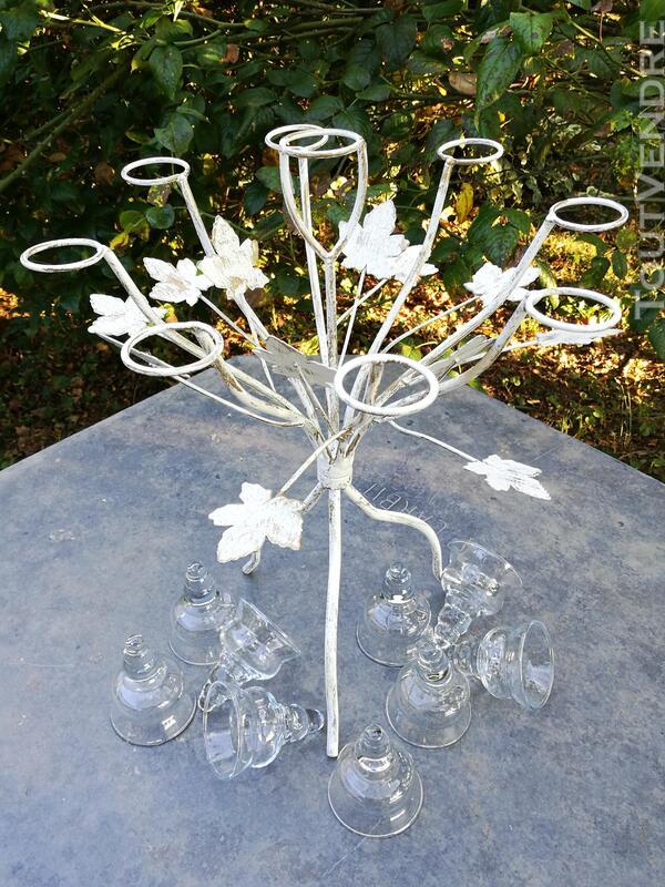 Chandelier Bougeoir Métal / coupelles verre / Tripode suxn 390087558
