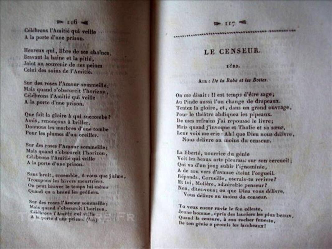 Chansons de BERANGER 1833 T 2 79628325
