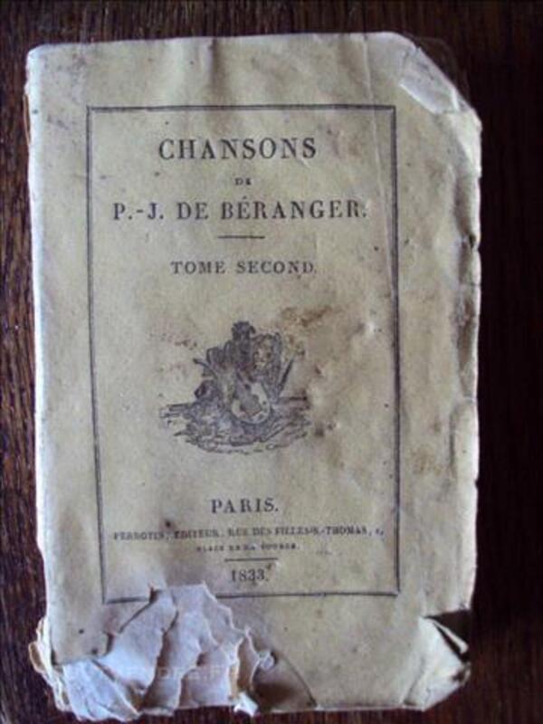 Chansons de BERANGER 1833 T 2 79628326
