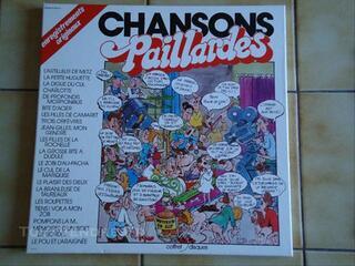 CHANSONS PAILLARDES COFFRET DE 3 DISQUES 33 TOURS
