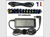 CHARGEUR ALIMENTATION UNIVERSEL 90W + 12 EMBOUTS / POUR Sony