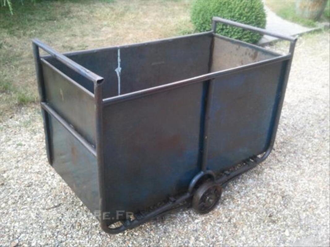 Chariot industriel tout acier Design Vintage Loft Indus 45855496