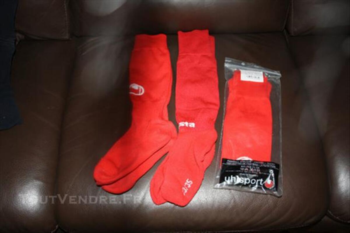 Chaussettes de foot rouge 33/36 77419730