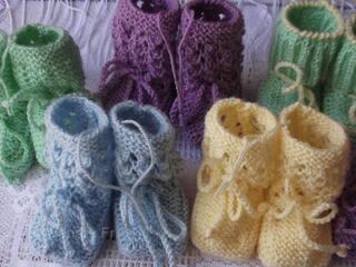 Chaussons tricotés à la main