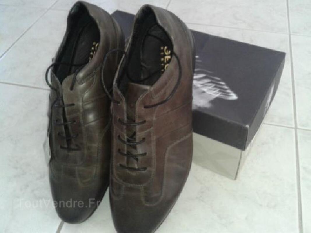 Chaussure neuve GEOX U iacopo marron respira T.44 92202719