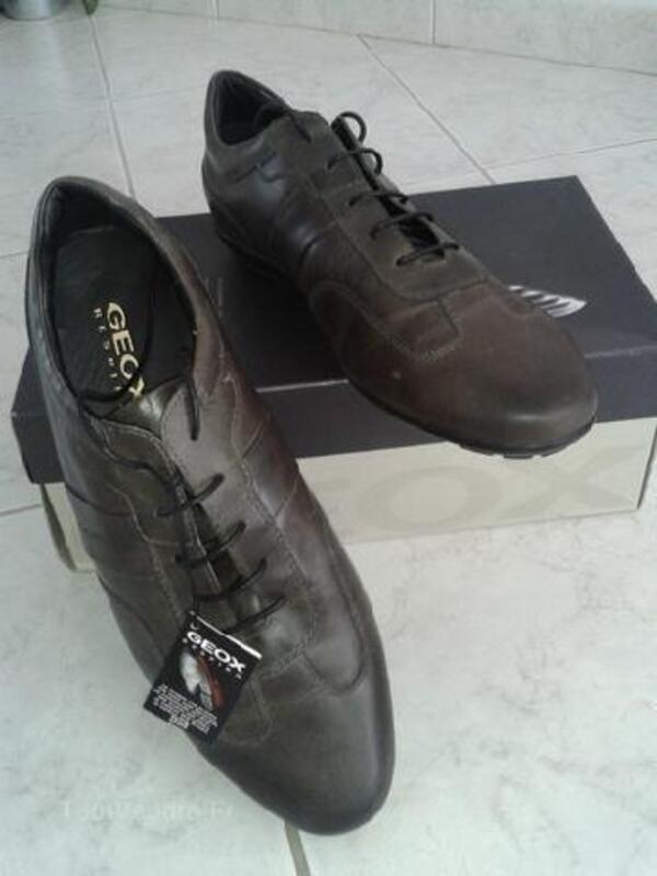 Chaussure neuve GEOX U iacopo marron respira T.44 92202720