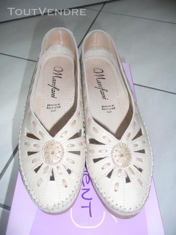 Chaussures cuir Marifani découpées Confort « sans gêne » T37 126847495