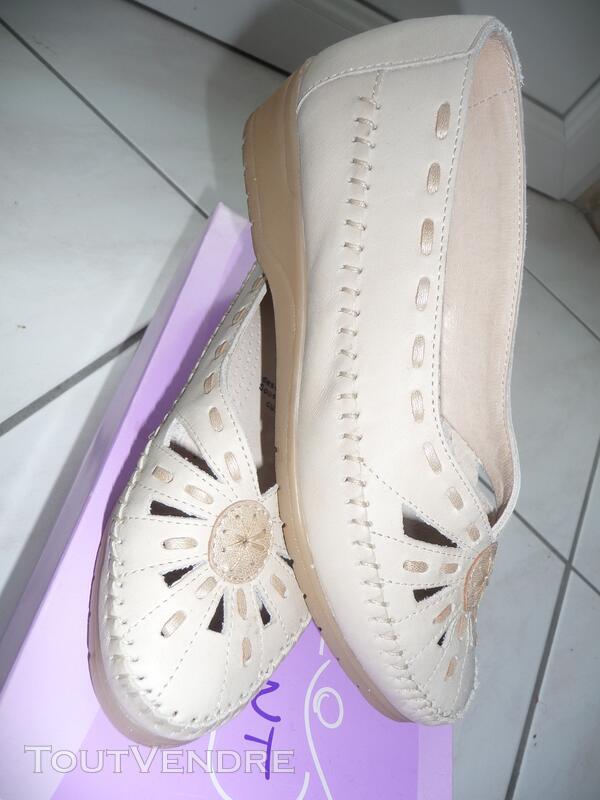 Chaussures cuir Marifani découpées Confort « sans gêne » T37 126847496