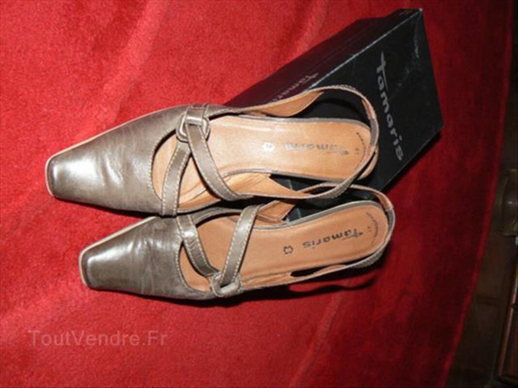 Chaussures cuir marron Tamaris pointure 41 87908838