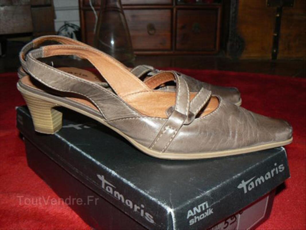 Chaussures cuir marron Tamaris pointure 41 87908839