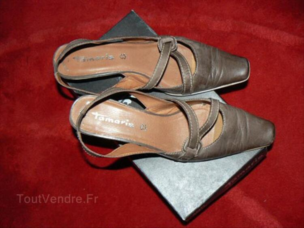 Chaussures cuir marron Tamaris pointure 41 87908840