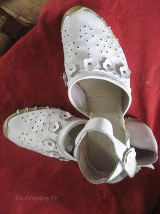 CHAUSSURES EN CUIR BLANCHES  POINTURE 38 56148132