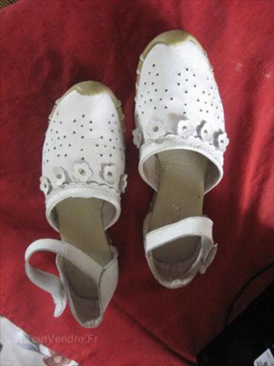 CHAUSSURES EN CUIR BLANCHES  POINTURE 38 56148134