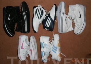Chaussures neuves femme et homme nike et adidas