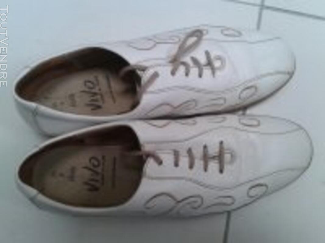 Chaussures pieds sensibles T 40 cuir intégral- grand confort 129245939