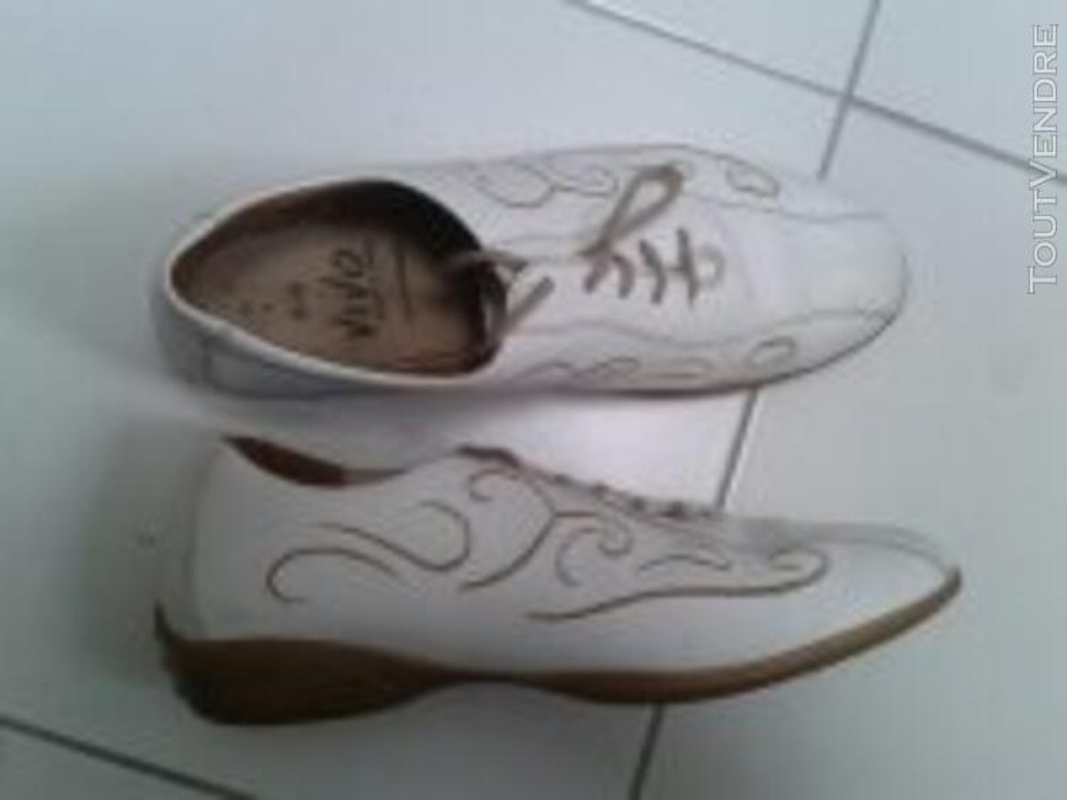 Chaussures pieds sensibles T 40 cuir intégral- grand confort 129245942