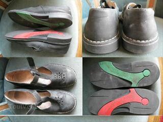 """Chaussures Sandales cuir marine """"KICKERS"""" 38"""