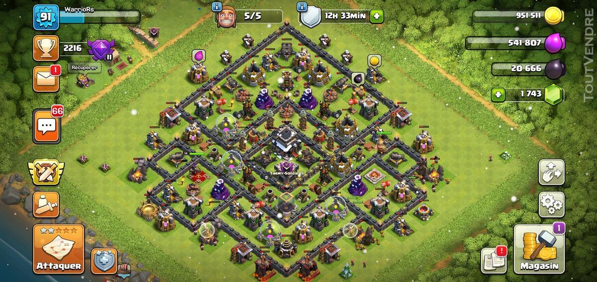 Clash of clan compte 5 euros 655754427