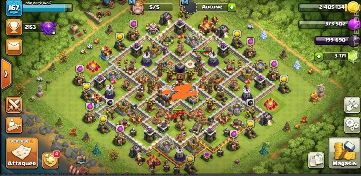 Clash of clan HDV 11 maxé 653330446