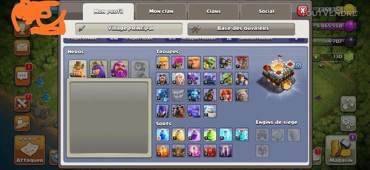 Clash of clan HDV 11 maxé 653330452