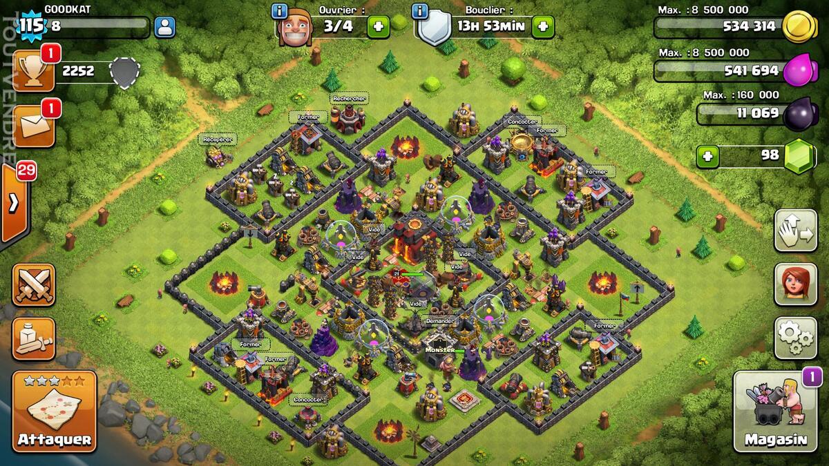 Clash of clans 115 +clsh royale niv10 (5legendares)+pokemon 146850776