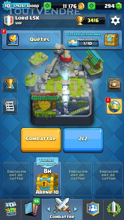 Clash Royale Level 10 Arènes Legendaire 308686264