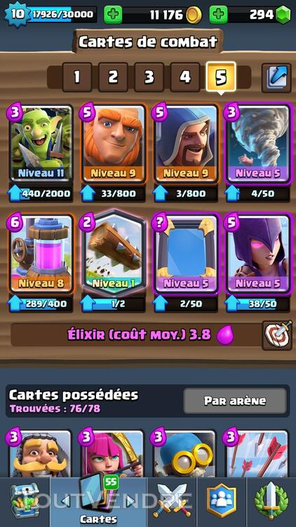 Clash Royale Level 10 Arènes Legendaire 308686267