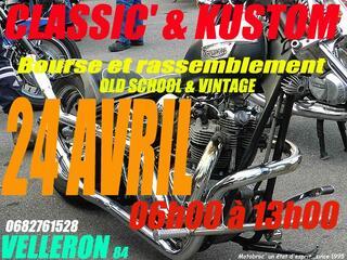 Classic moto auto et Kustom le 24 avril à Velleron