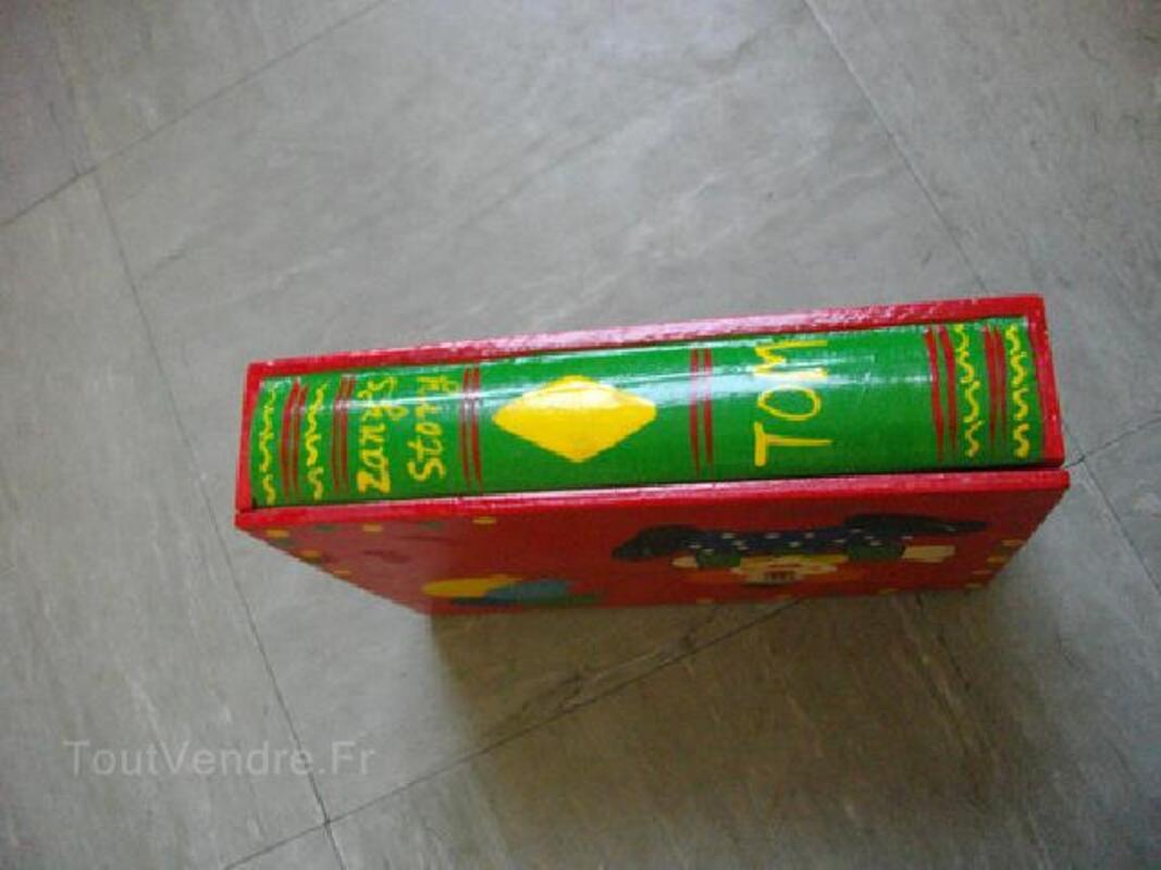 Coffret bois peint pour enfant livre / clown 90505340