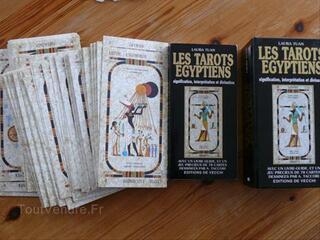 Coffret tarot egyptien + livre de laura tuan