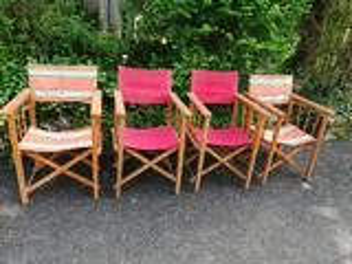 Collection de Fauteuils de Jardin Pliants Vintage 50's suxn