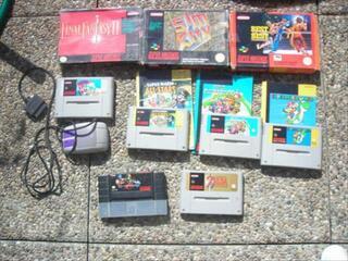 Collection de jeux Super Nintendo en loot ou à la carte